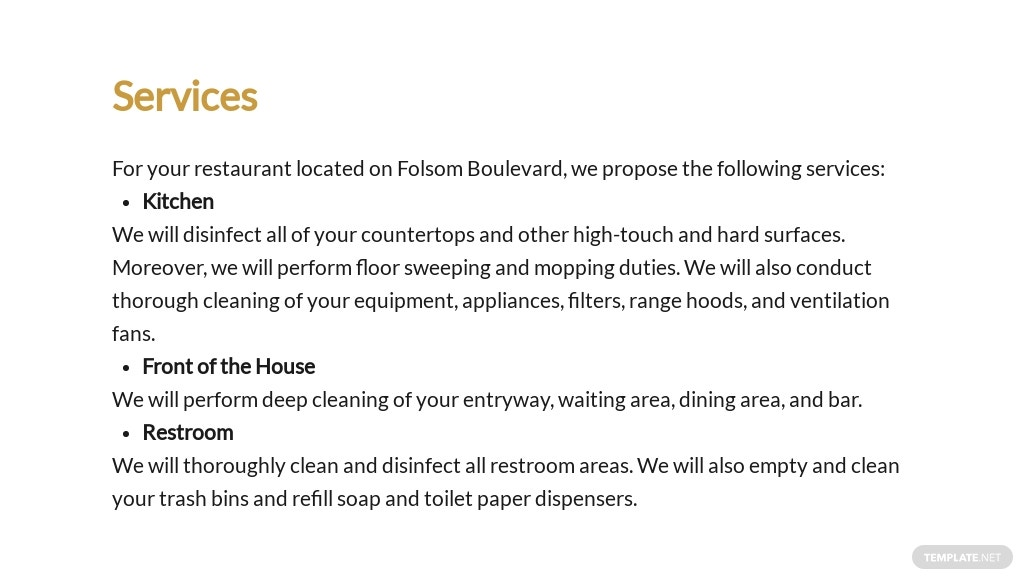 Restaurant Cleaning Proposal Template 2.jpe