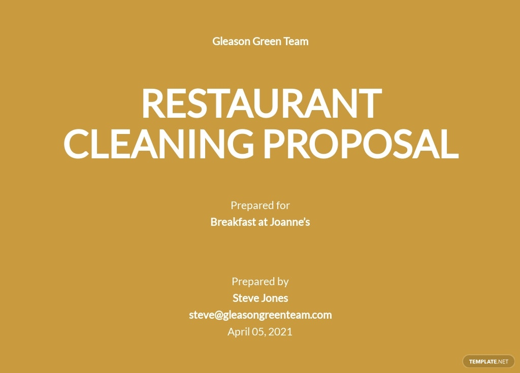 Restaurant Cleaning Proposal Template.jpe
