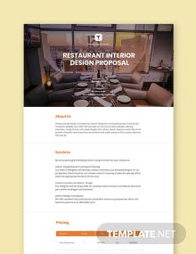 Restaurant Interior Design Proposal Template