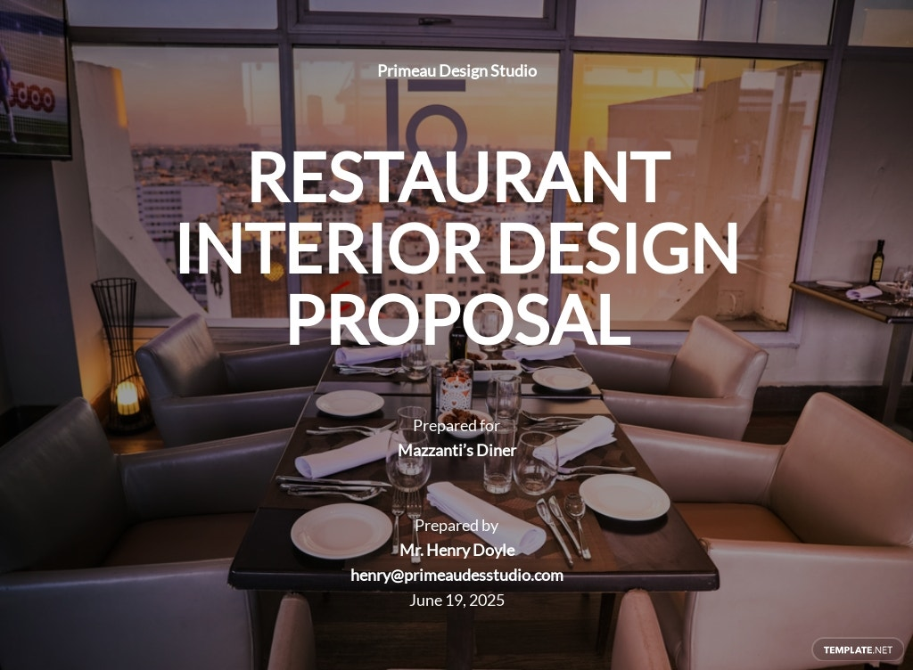 Restaurant Interior Design Proposal Template