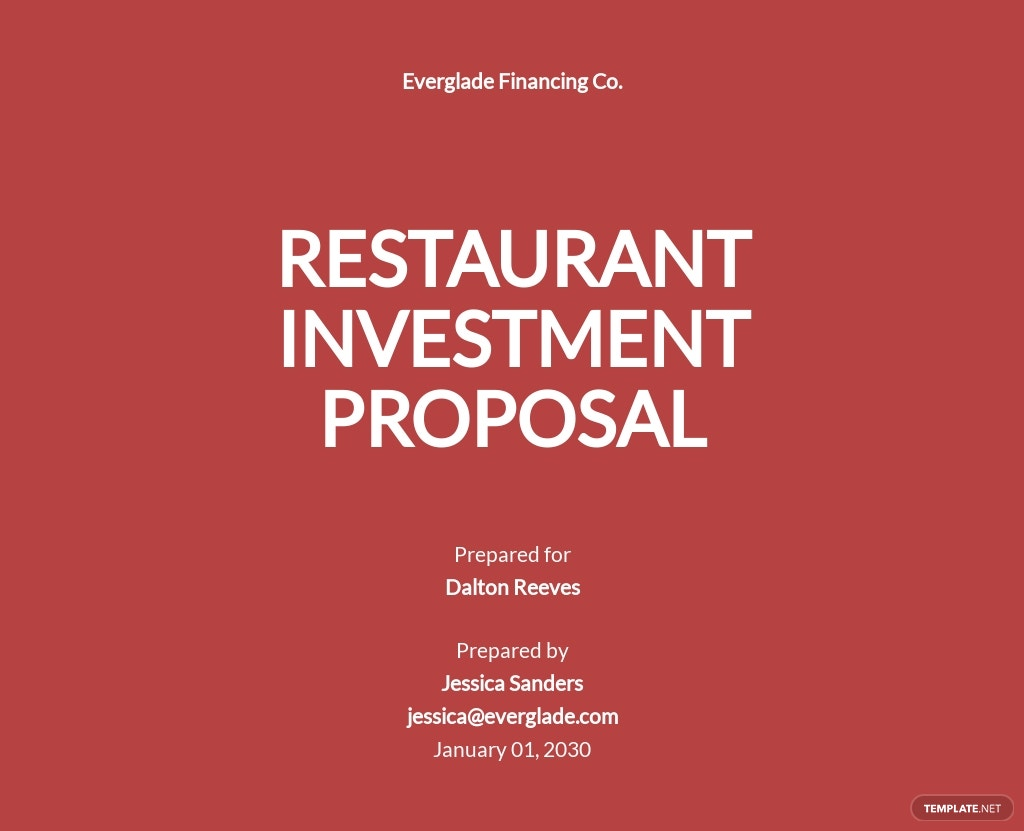 Restaurant Investment Proposal Template.jpe