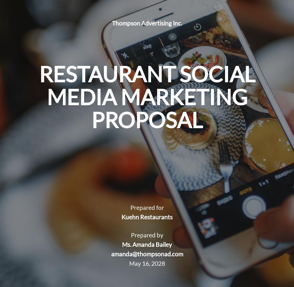 Restaurant Social Media Marketing Proposal Template.jpe