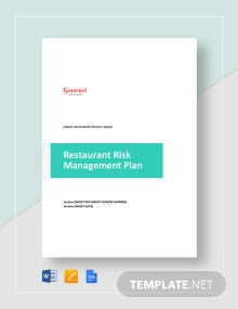 Restaurant Risk Management Plan Template