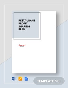 Restaurant Profit Sharing Plan Template