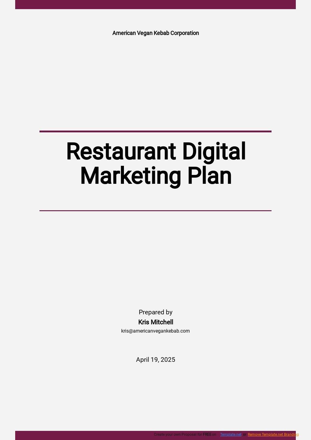 Restaurant Digital Marketing Plan Template.jpe