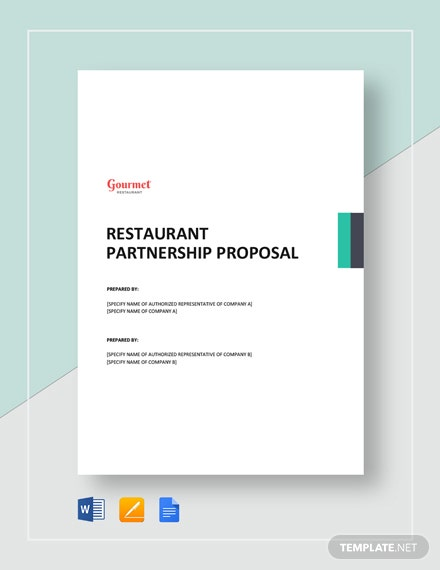 Restaurant Partnership Proposal Template