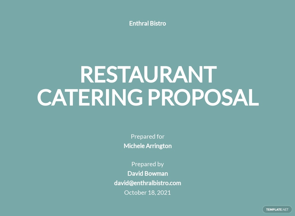 Restaurant Catering Proposal Template