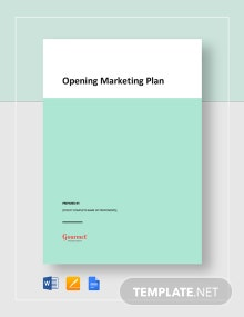 Opening Marketing Plan Template
