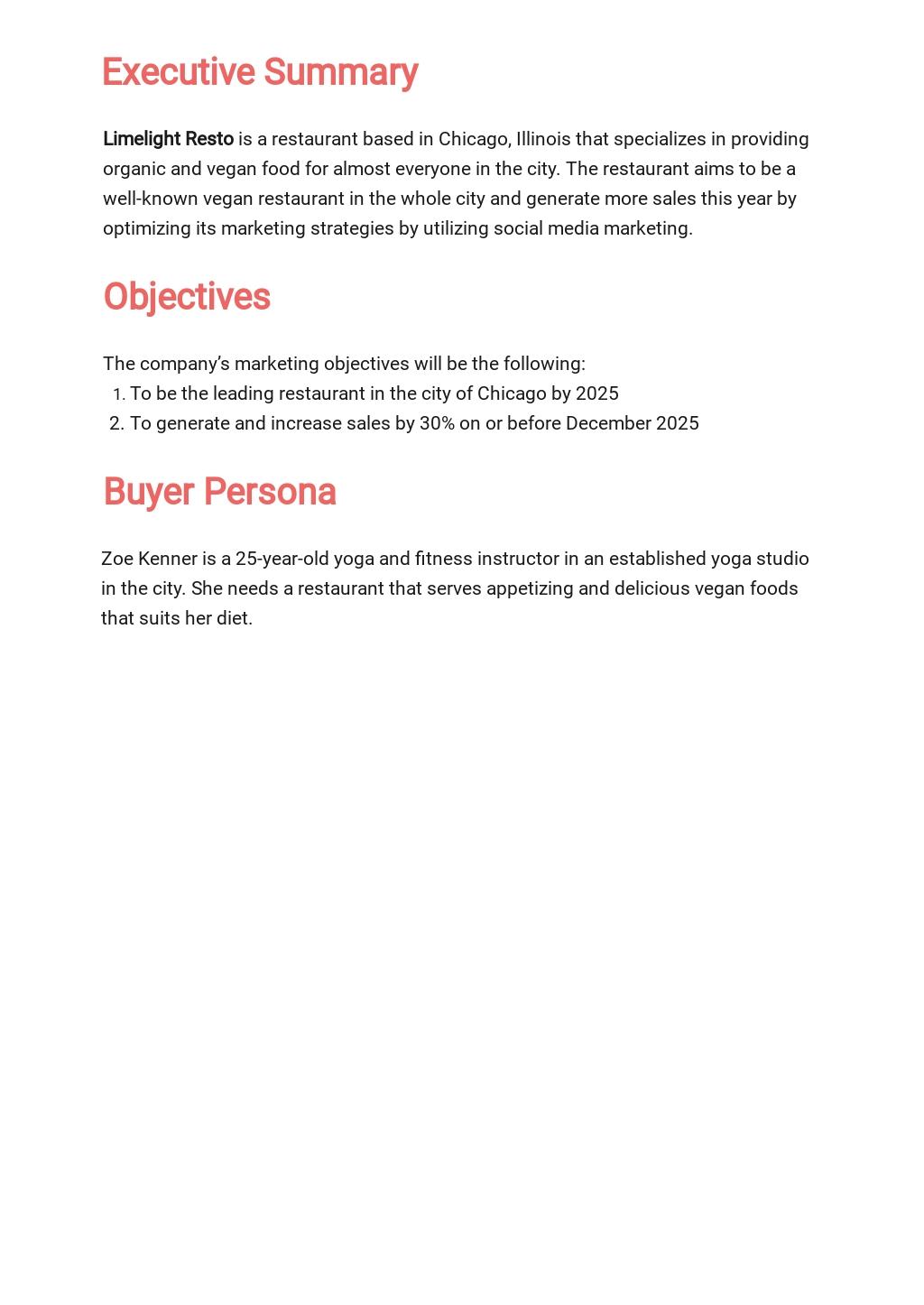 Restaurant Social Media Marketing Plan Template 1.jpe