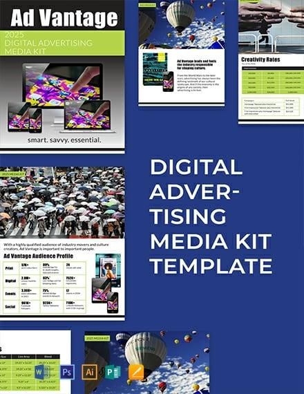 Free Digital Advertising Media Kit Template