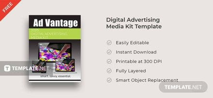 Free Digital Advertising Media Kit Template