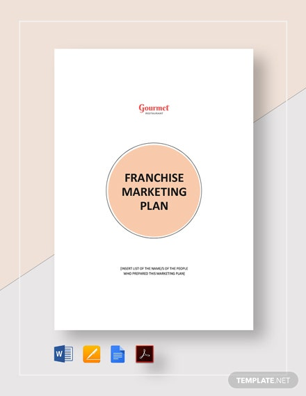 Franchise Marketing Plan Template