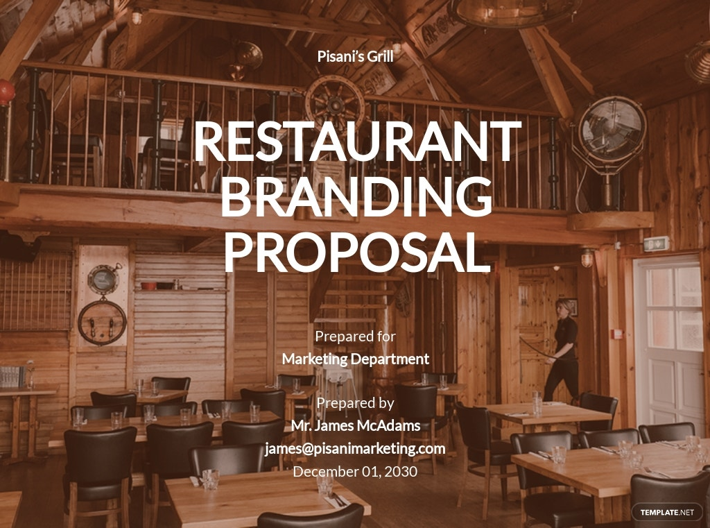 Restaurant Branding Proposal Template