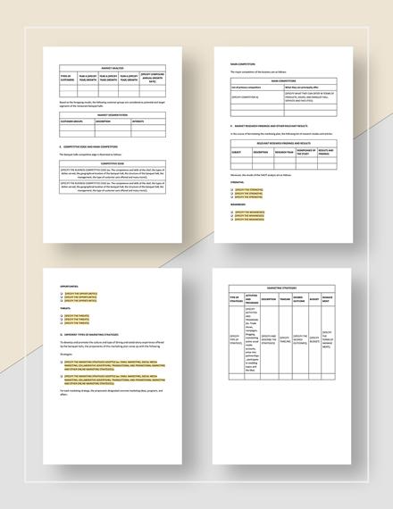 Banquet Hall Marketing Plan Download