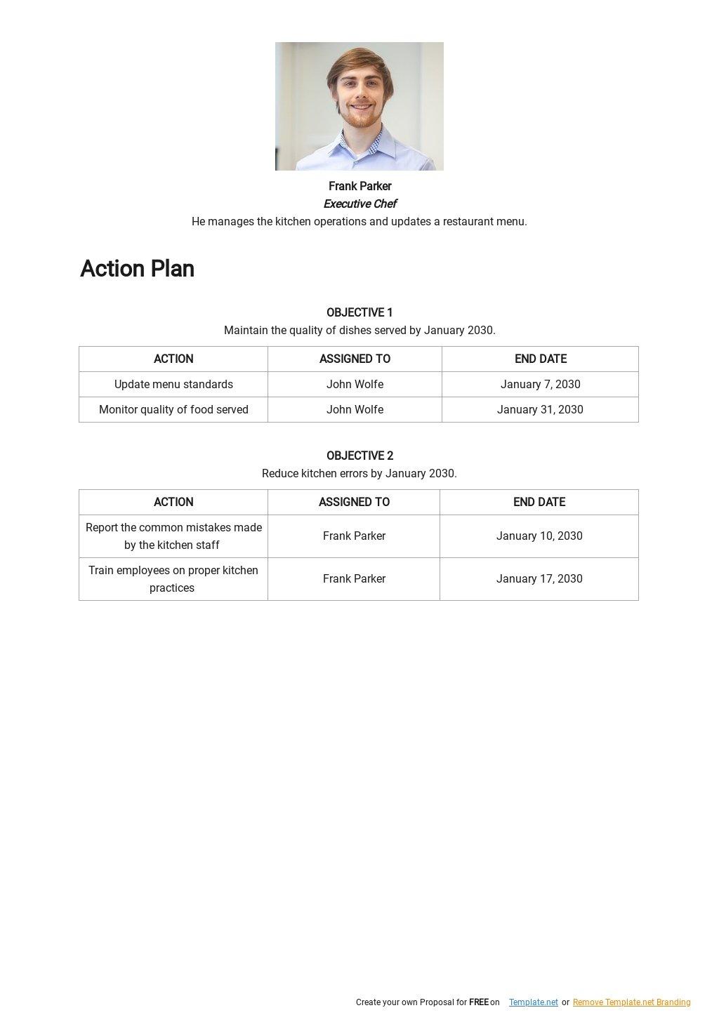 Restaurant Quality Control Plan Template 2.jpe