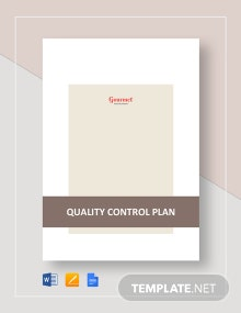Restaurant Quality Control Plan Template