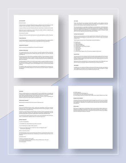 Basic Restaurant Business Plan Guidelines