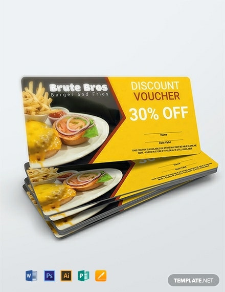 Free Fast Food Voucher Template
