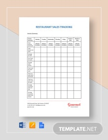 Restaurant Sales Tracking Template