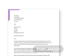 Free College Resume Cover Letter Template