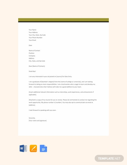 Free-Data-Entry-Resume-Cover-Letter-Template-440x570-1 Template Cover Letter For Resume Data Enty on
