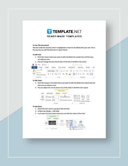 Tax Invoice Instructions