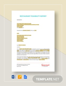 Restaurant Feasibility Report Template