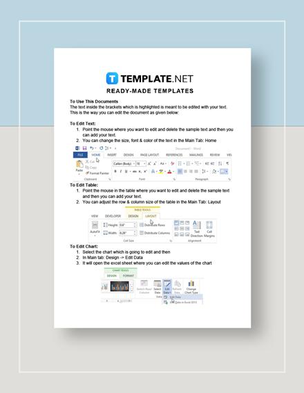 Restaurant Expenses Spreadsheet Instructions