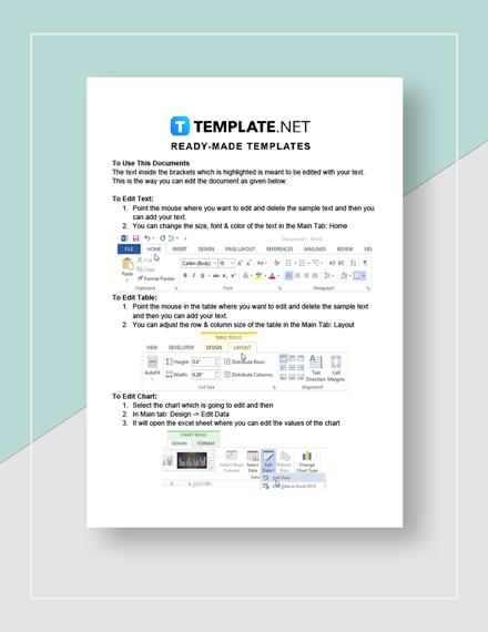 Restaurant Production Sheet Instructions