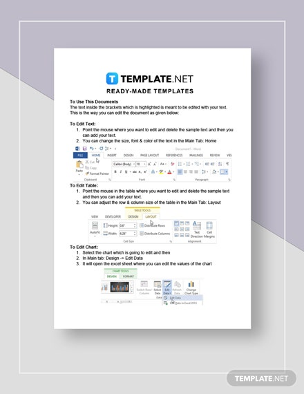 Menu  Recipe Cost Spreadsheet Instructions