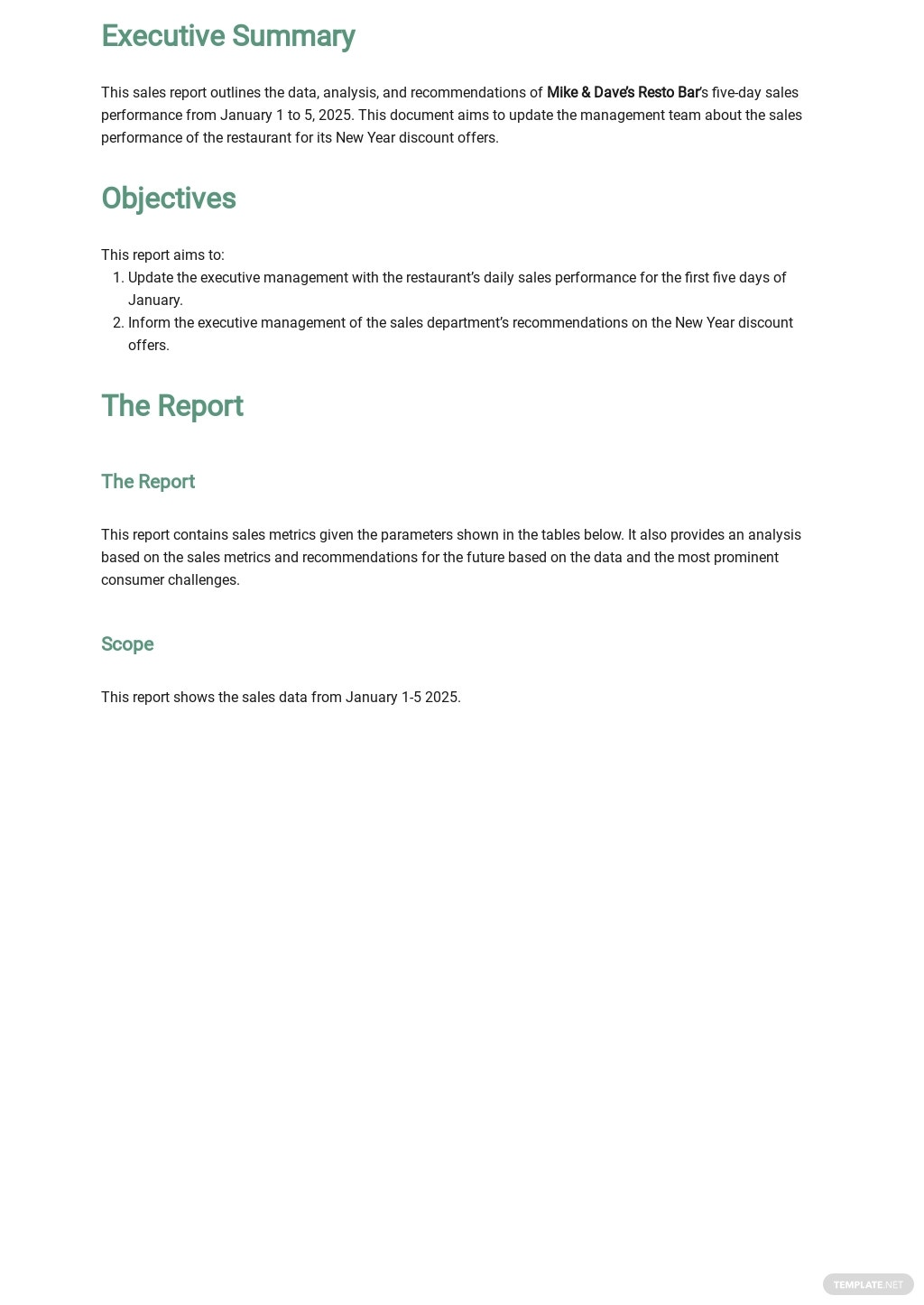 Restaurant Daily Sales Report Template 1.jpe