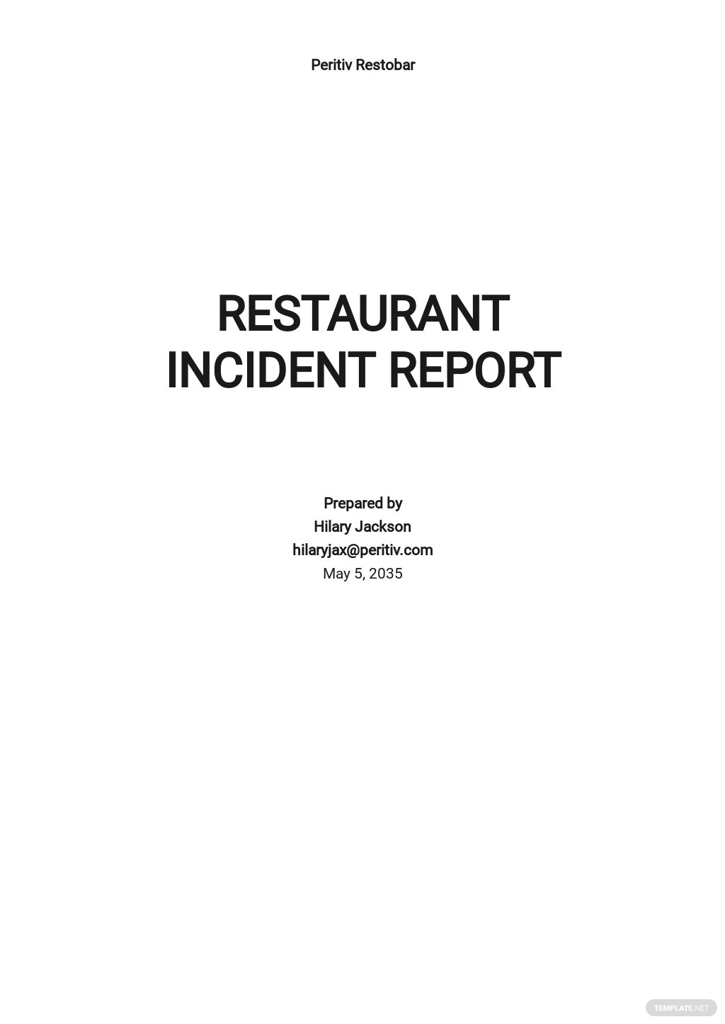 Restaurant Incident Report Template.jpe
