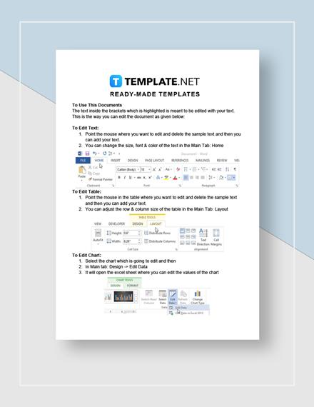 Restaurant Balance Sheet Instructions