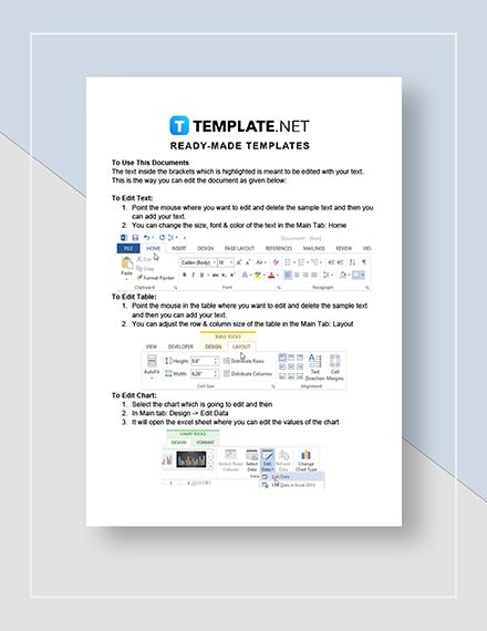 Balance Sheet Quarterly Instructions