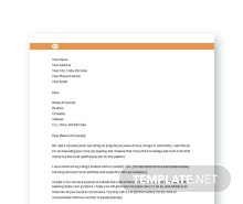 Free Student Resume Cover Letter Template