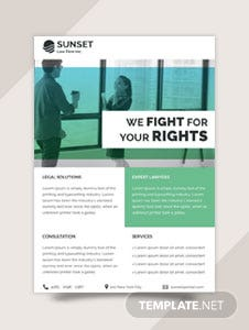 Free Law Firm Datasheet Template