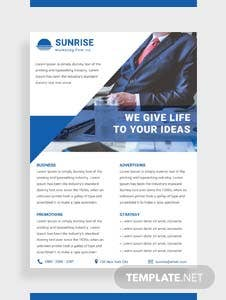 Free Marketing Firm Datasheet Template