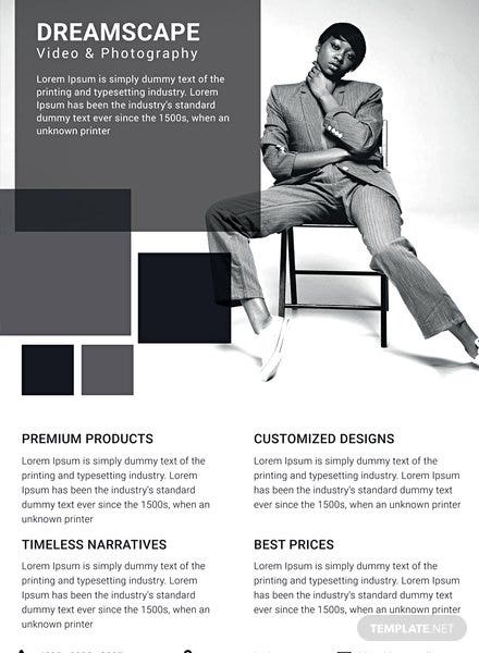Free Photography Studio Datasheet Template