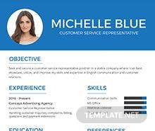 Customer Service Representative Resume Format