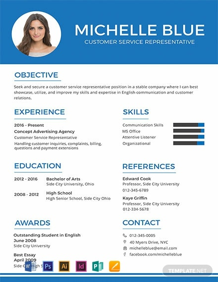 Customer Service Representative Resume Format Template