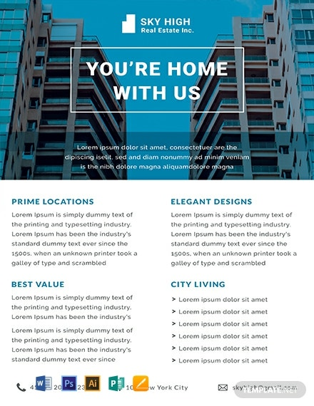 Free Real Estate Datasheet Template