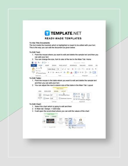Restaurant Employee Schedule Change Form Instructions