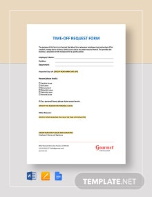 Employee Time-Off Request Form Template
