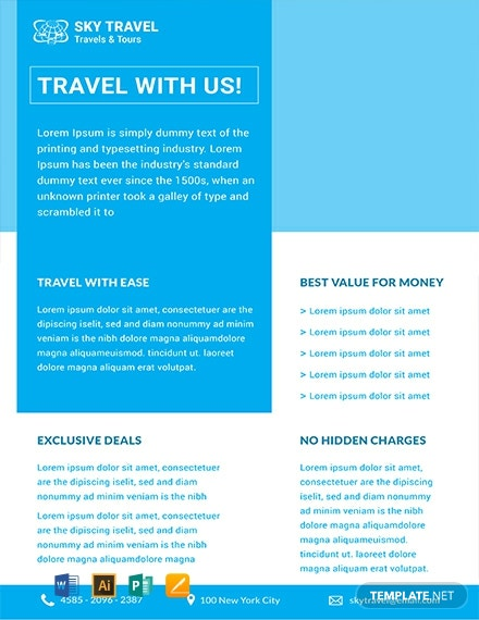 Free Travel Datasheet Template
