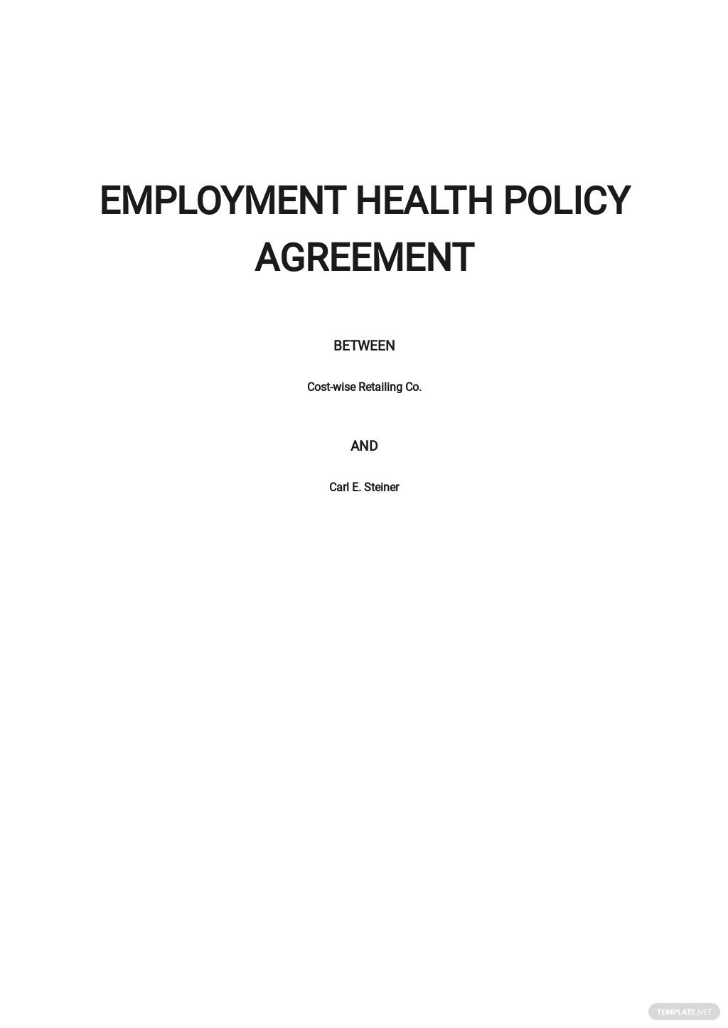 Employee Health Policy Agreement Template.jpe