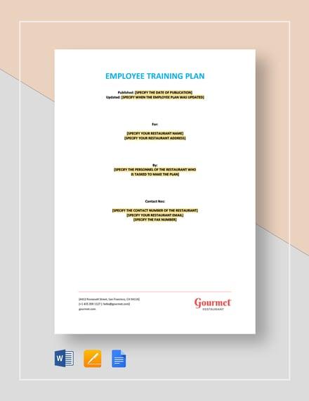 Employee Training Plan Template
