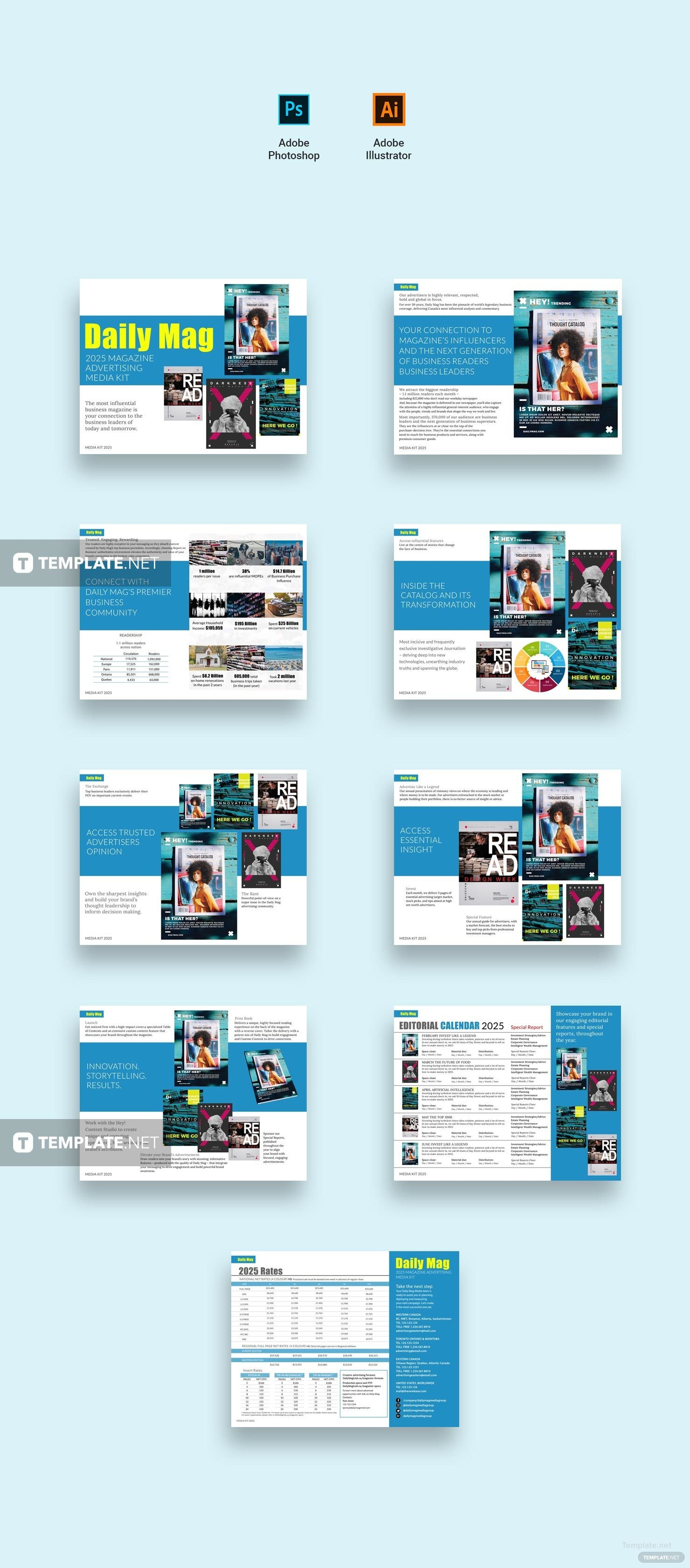 advertising media kit template - free magazine advertising media kit template in adobe