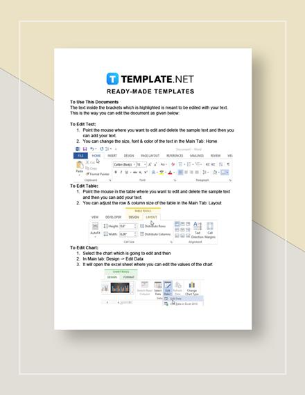 Restaurant Customer Service Action Form Instructions