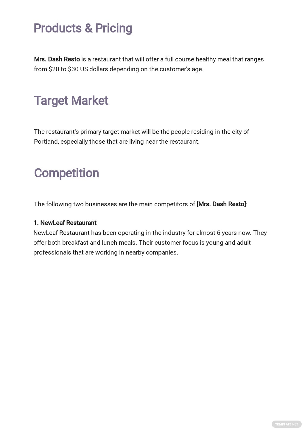 Restaurant Business Plan Outline Template 2.jpe