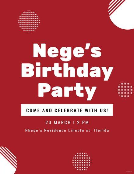 Free Birthday Program Template